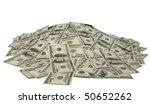 Big Pile Of Money. Dollars Ove...