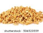 heap of muesli on white... | Shutterstock . vector #506523559