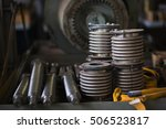 bolts  nuts  metal parts close... | Shutterstock . vector #506523817