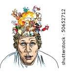 brain explosion | Shutterstock .eps vector #50652712
