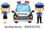 Two Police Officers By The...
