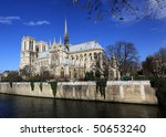 Notre-Dame basilica in Paris - stock photo