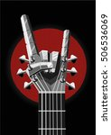 rock poster with a metal hand... | Shutterstock .eps vector #506536069