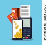 smartphone of payment online... | Shutterstock .eps vector #506536477