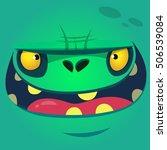 cartoon zombie face. vector... | Shutterstock .eps vector #506539084