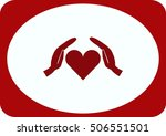 human heart  love  icon | Shutterstock .eps vector #506551501