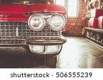 color detail on the headlight... | Shutterstock . vector #506555239
