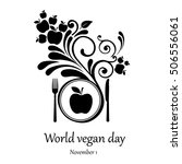 world vegetarian day. november... | Shutterstock . vector #506556061