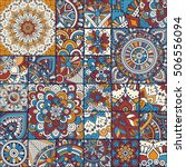 seamless pattern tile with... | Shutterstock .eps vector #506556094