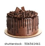 Tasty Chocolate Cake Isolated...