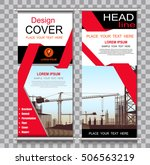 red roll up banner template and ... | Shutterstock .eps vector #506563219