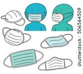 vector set of medical... | Shutterstock .eps vector #506564509