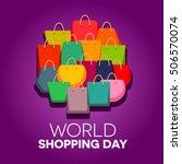 world shopping day   Shutterstock .eps vector #506570074