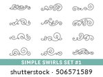set of elegant vector swirls.... | Shutterstock .eps vector #506571589
