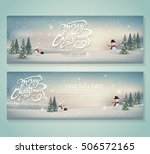 vintage merry christmas and... | Shutterstock .eps vector #506572165