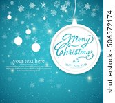 vintage merry christmas and... | Shutterstock .eps vector #506572174