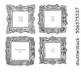 sketch art frame decorative... | Shutterstock .eps vector #506575537