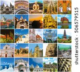 world monuments collage   from... | Shutterstock . vector #506579515