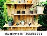 cactus in pot in cactus garden . | Shutterstock . vector #506589931