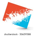 illustration on a musical rock... | Shutterstock .eps vector #50659588