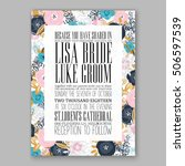 wedding invitation or card with ... | Shutterstock .eps vector #506597539