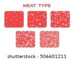5 beef grade with juicy fat... | Shutterstock .eps vector #506601211