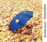 Lonely Black Umbrella Left On...