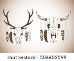 boho style bohemic and ornament ... | Shutterstock .eps vector #506603599