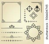 vintage set. floral elements... | Shutterstock .eps vector #506604745
