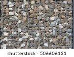 wire gabion rock fence | Shutterstock . vector #506606131