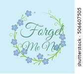 branch of blue forget me not... | Shutterstock .eps vector #506607505