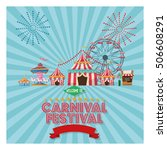 activities of carnival and... | Shutterstock .eps vector #506608291