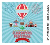 activities of carnival and... | Shutterstock .eps vector #506608309