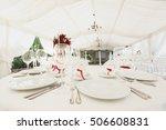 beautiful banquet hall under a... | Shutterstock . vector #506608831