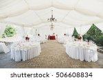 beautiful banquet hall under a... | Shutterstock . vector #506608834