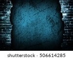 broken brick wall background | Shutterstock . vector #506614285