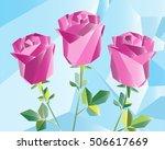 vector illustration. violet... | Shutterstock .eps vector #506617669