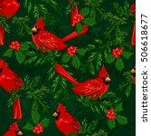 Red Cardinal Bird Vector....