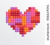 valentine heart from plastic... | Shutterstock .eps vector #506619541