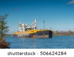 a cement carrier navigating... | Shutterstock . vector #506624284