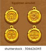 Golden Old Egyptian Amulet ...