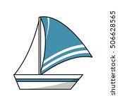 isolated sailboat design | Shutterstock .eps vector #506628565