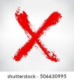 hand drawn x mark.grunge letter ... | Shutterstock .eps vector #506630995