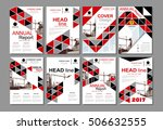 red business construction... | Shutterstock .eps vector #506632555