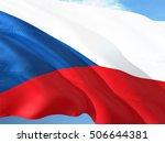 czech republic flag on the mast | Shutterstock . vector #506644381