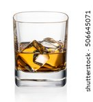 glass of whiskey and ice on a... | Shutterstock . vector #506645071