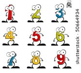 funny number cartoon collection | Shutterstock .eps vector #50664934