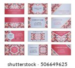set of business cards. template ...   Shutterstock .eps vector #506649625