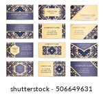set of business cards. template ... | Shutterstock .eps vector #506649631