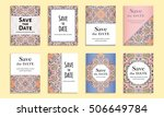 save the date. set of cards... | Shutterstock .eps vector #506649784